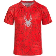 Spyder Web Print Shirt - Short Sleeve (For Big Boys) in Volcano/Black/Grey - Closeouts