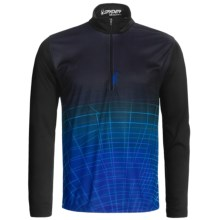 Spyder Webcentric Base Layer Top - Heavyweight, Zip Neck, Long Sleeve (For Men) in Black/Just Blue - Closeouts