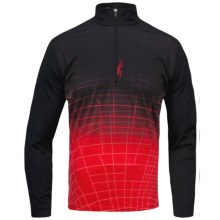 Spyder Webcentric Base Layer Top - Heavyweight, Zip Neck, Long Sleeve (For Men) in Black/Volcano - Closeouts