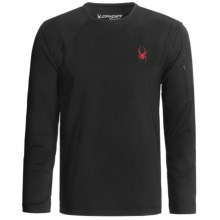 Spyder Work Dry W.E.B. Shirt - Long Sleeve (For Men) in 019 Black/Red - Closeouts