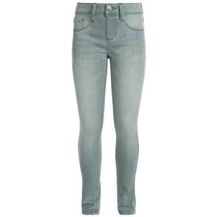 Squeeze Colored Skinny Jeans - Stretch Cotton (For Big Girls) in Light Grey - Closeouts