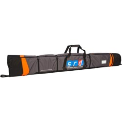 SRD Rock and Roll Up Ski Bag in Charcoal/Orange/Black