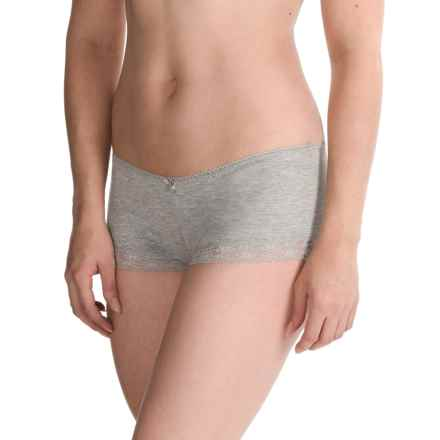 St. Eve Comfortable Panties - Boy Shorts, Stretch Cotton (For Women) in Heather Grey - Closeouts