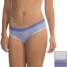 St. Eve Hipster Panties - 3-Pack, Stretch Cotton (For Women) in Periwinkle Stripe - Closeouts