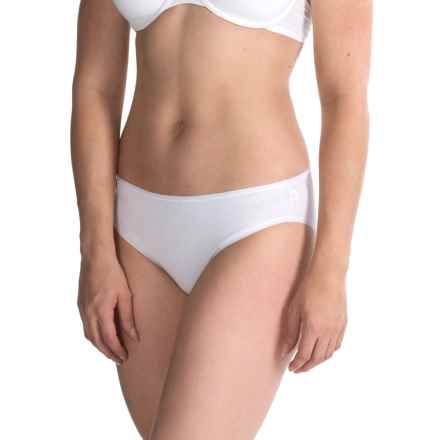 St. Eve Invisibles Panties - Hi-Cut Briefs, Stretch Cotton (For Women) in White - Closeouts
