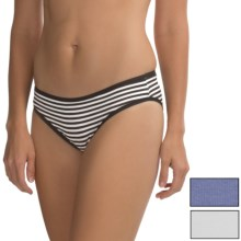 St. Eve Invisibles Stretch Cotton Panties - Bikini Briefs, 3-Pack (For Women) in Black Mini Stripe - Closeouts