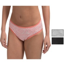 St. Eve Invisibles Stretch Cotton Panties - Bikini Briefs, 3-Pack (For Women) in Peach Dot - Closeouts