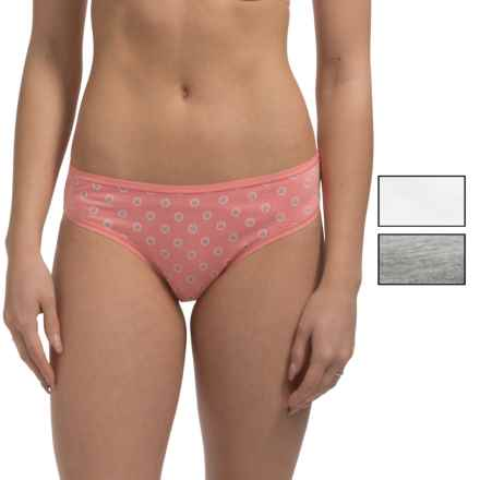 St. Eve Invisibles Stretch Cotton Panties - Bikini Briefs, 3-Pack (For Women) in Salmon Rose - Closeouts