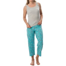 St. Eve Jersey-Knit Pajamas - Sleeveless (For Women) in Grey/Teal - Closeouts