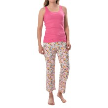 St. Eve Jersey-Knit Pajamas - Sleeveless (For Women) in Pink Floral - Closeouts