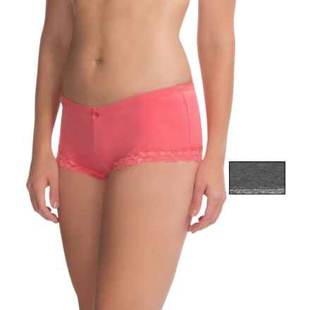 St. Eve Magic Panties - Boy Shorts, 2-Pack (For Women) in Grey/Coral - Overstock