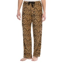 St. Eve Microfleece Pajama Bottoms (For Women) in Animal - Closeouts