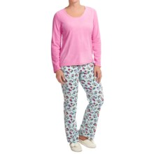 St. Eve Microfleece Pajamas - Gift Packaged, Long Sleeve (For Women) in Bundle Up - Closeouts