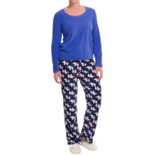 St. Eve Microfleece Pajamas - Gift Packaged, Long Sleeve (For Women) in Elefriends - Closeouts