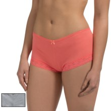 St. Eve Modern Magic Panties - Boy Shorts, 2-Pack (For Women) in Peach - Closeouts