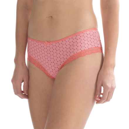 St. Eve Pretty Hipster Panties - Stretch Cotton (For Women) in Salmon/Grey - Closeouts