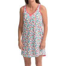 St. Eve Printed Cotton Nightgown - Sleeveless (For Women) in Scwfl Cherry Red Floral - Closeouts