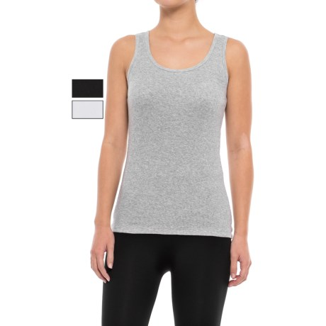 St Eve Ribbed Tank Top - 3-Pack (For Women) in Black/White/Gray