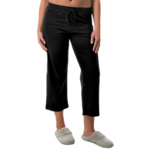 St. Eve Stretch Cotton Drawstring Lounge Capris (For Women) in Black - Closeouts