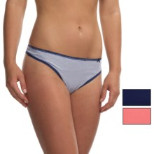 St. Eve Stretch Cotton Thong Panties - 3-Pack (For Women) in Twilight Navy - Closeouts
