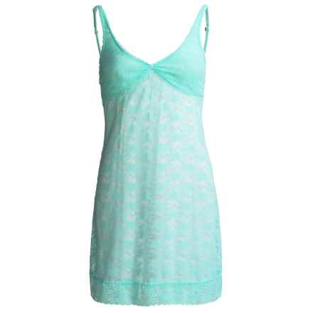 St. Eve Stretch Lace Chemise Nightgown - Knot Front, Sleeveless (For Women) in Sea Foam - Closeouts