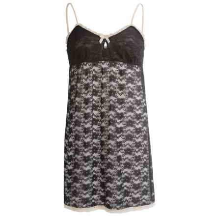 St. Eve Stretch Lace Chemise Nightgown - Short (For Women) in Black - Closeouts