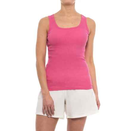 St. Eve Stretch Rib Tank Top - Cotton (For Women) in Pink - Closeouts