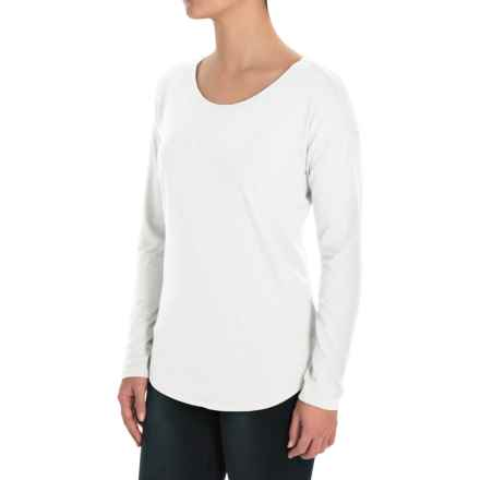 St. Tropez West Boat Neck Stretch Shirt - Modal-Cotton, Long Sleeve (For Women) in White - Closeouts