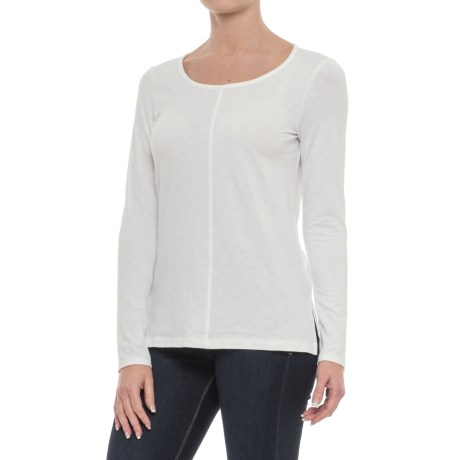 St. Tropez West Center-Seam Shirt - Long Sleeve (For Women) in White
