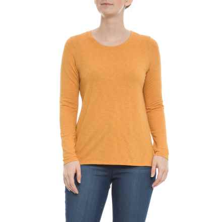 St. Tropez West Collegiate Gold Mod Slub-Knit Shirt - Long Sleeve (For Women) in Collegiate Gold - Closeouts