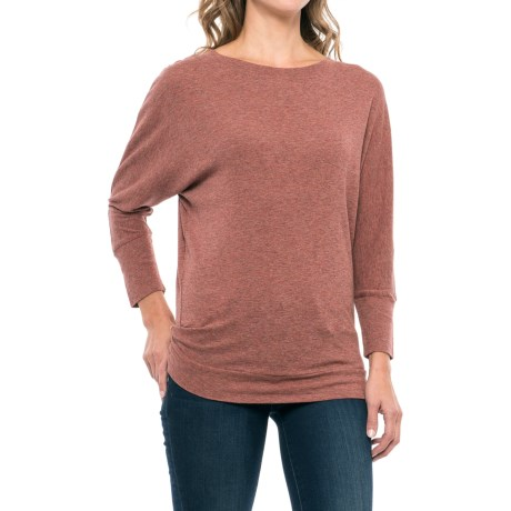 St. Tropez West Dolman Shirt - Modal-Cotton, Elbow Sleeve (For Women) in Soft Henna Heather