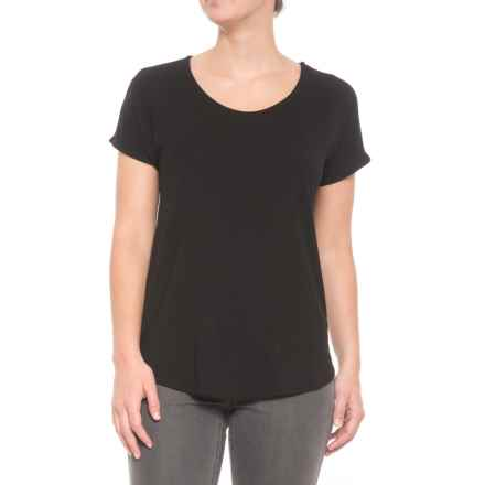 St. Tropez West Dolman Shirt - Short Sleeve (For Women) in Black - Closeouts