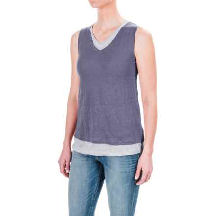 St. Tropez West Double-Layered Tank Top (For Women) in Chalk Slate/Wind Blue - Closeouts
