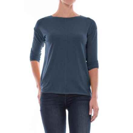 St. Tropez West Drop-Shoulder Shirt - Long Sleeve (For Women) in Faded Denim - Closeouts