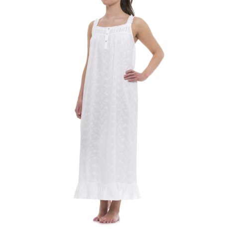 St. Tropez West Embroidered Nightgown - Sleeveless (For Women)