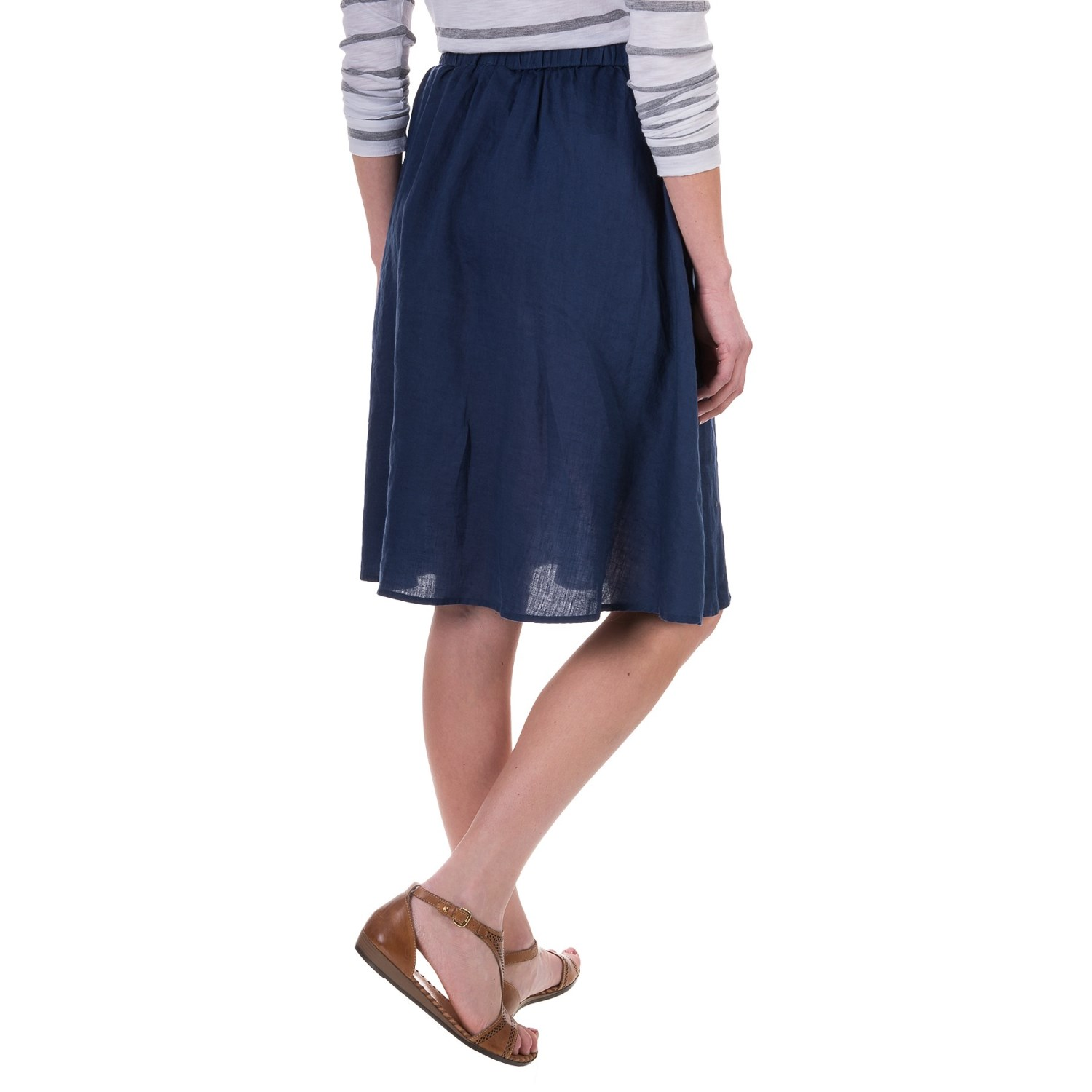 St. Tropez West Linen A-Line Skirt (For Women) - Save 30%