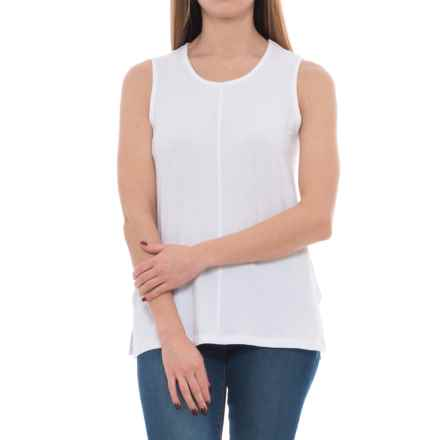 St. Tropez West Modern Slub Shirt - Modal-Cotton, Sleeveless (For Women) in White - Closeouts