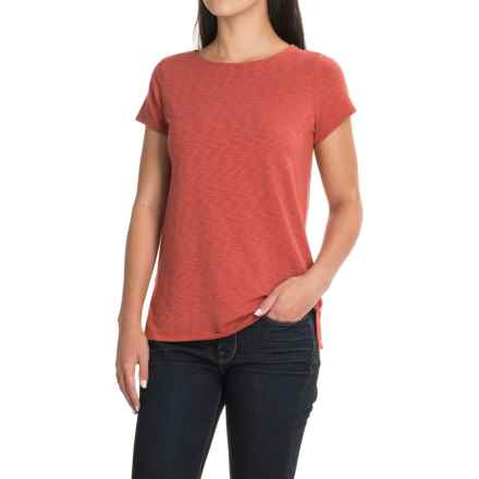 St. Tropez West Modern Slub T-Shirt - Short Sleeve (For Women) in Clay Pot - Closeouts