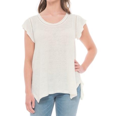 St. Tropez West Sharkbite Linen Tunic Shirt - Short Sleeve (For Women)