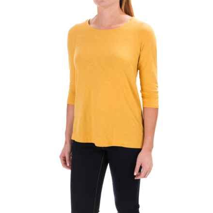 St. Tropez West Side-Slit Shirt - Modal-Cotton, 3/4 Sleeve (For Women) in Harvest Dijon - Closeouts