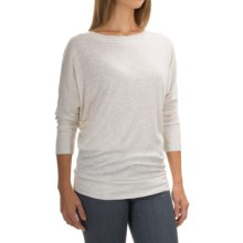 St. Tropez West Slub-Knit Shirt - 3/4 Sleeve (For Women) in Ivory Heather - Closeouts