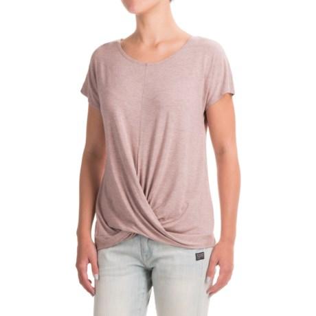 St. Tropez West Wrap-Front T-Shirt - Short Sleeve (For Women)