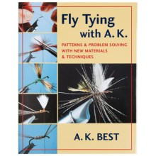 Stackpole Books Fly Tying with A.K. Book - By A.K. Best, Hardcover in See Photo - Closeouts