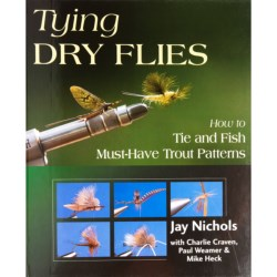 Stackpole Books Tying Dry Flies Spiral Book - By Jay Nichols, Hardcover in See Photo