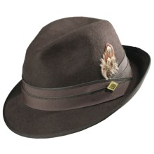Stacy Adams Snap-Brim Fedora - Felted Wool (For Men) in Grey - Closeouts