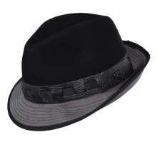 Stacy Adams Wool Felt Fedora (For Men) in Black - Closeouts