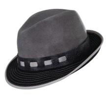 Stacy Adams Wool Felt Fedora (For Men) in Grey - Closeouts