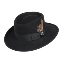 Stacy Adams Wool Felt Gambler Hat (For Men) in Black - Closeouts