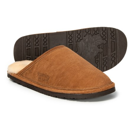 feb068371 Staheekum Alpine Leather Slippers - Wool Lined (For Men) in Wheat -  Closeouts
