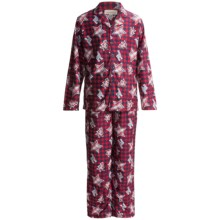Stan Herman Pajamas - Long Sleeve (For Little and Big Kids) in Navy/Red Plaid Reindeer Print - Closeouts
